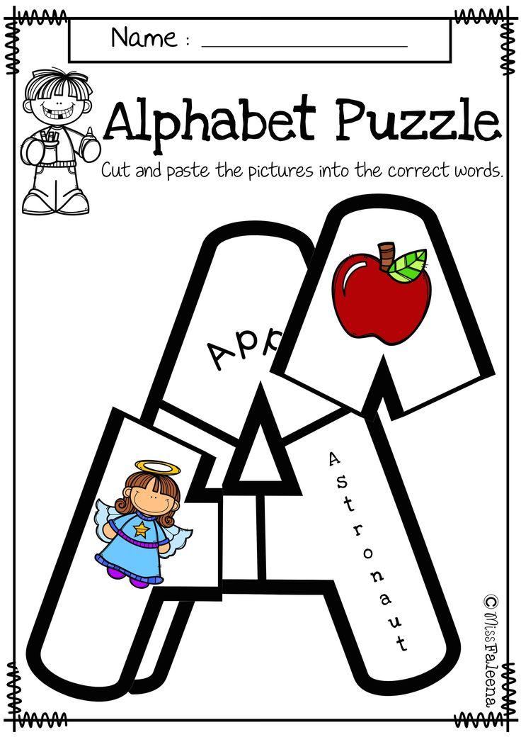 alphabet letter puzzles uppercase miss faleena 39 s store teacher worksheets alphabet. Black Bedroom Furniture Sets. Home Design Ideas