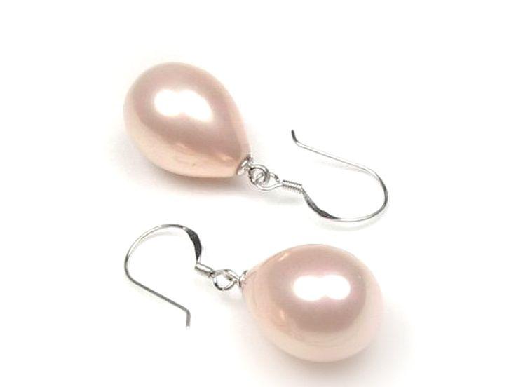 Ohrringe - schlichte echte Perlen Tropfen Ohrringe Silber 925 - ein Designerstück von Mont_Klamott bei DaWanda