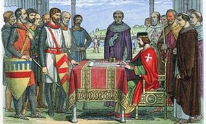 magna carta- a document constituting a fundamental guarantee of rights and privileges.