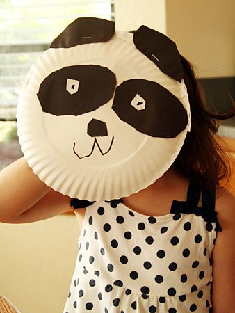 Paper plate panda. China craft.