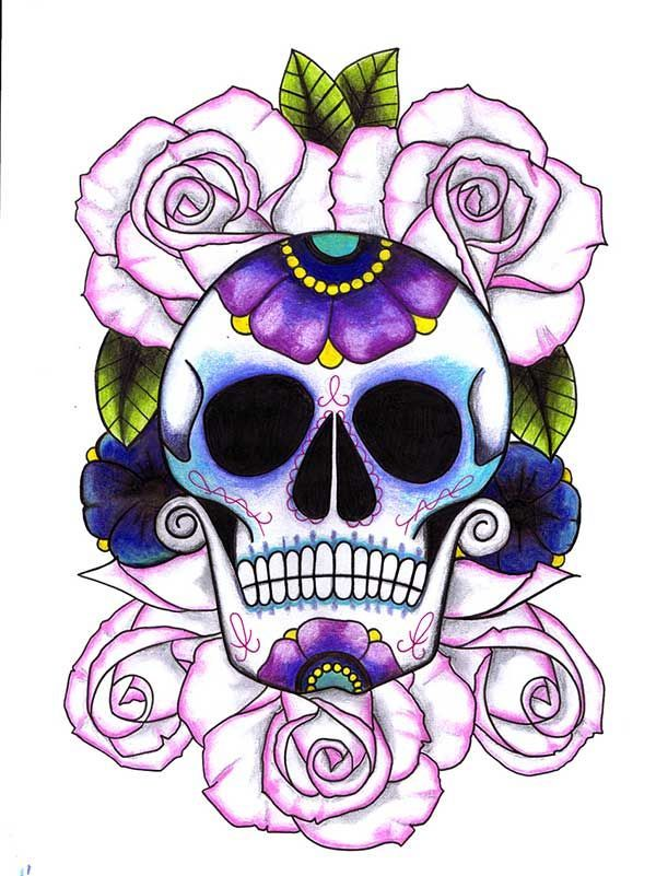 sugar skull girl tattoo sugar skull tattoos for girls