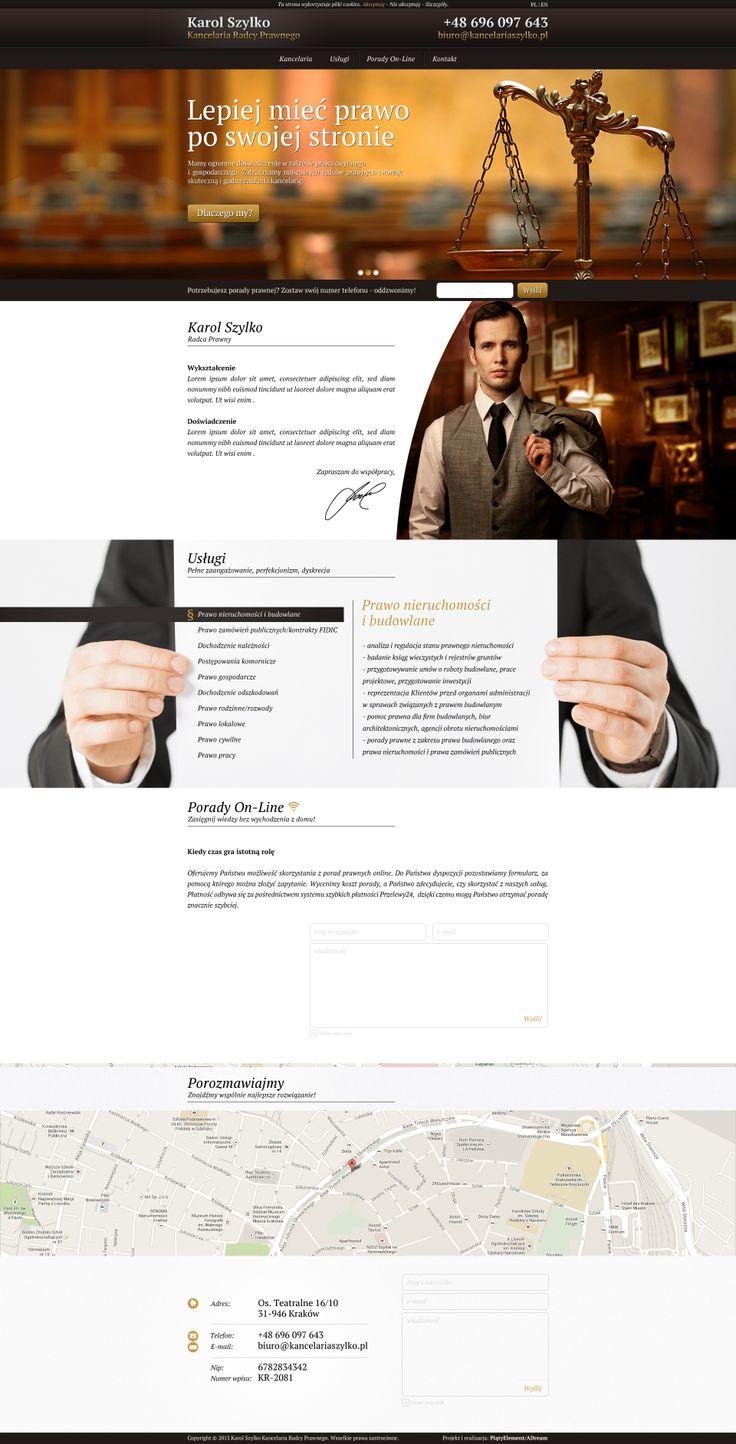 Strona typu OnePage stworzona dla Kancelarii Radcy prawnego Karola Szylko