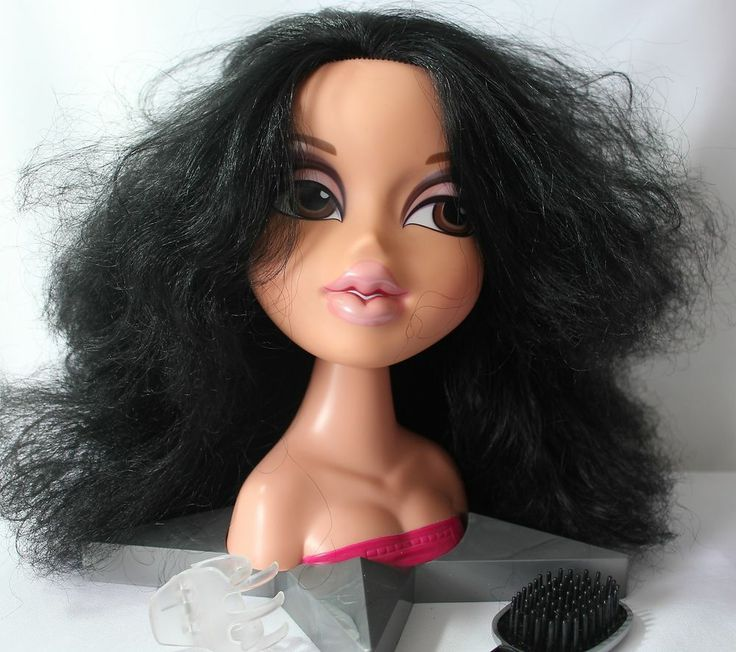 "Bratz Jade Glamour Styling Head Doll Star Base 10"" Brush ..."