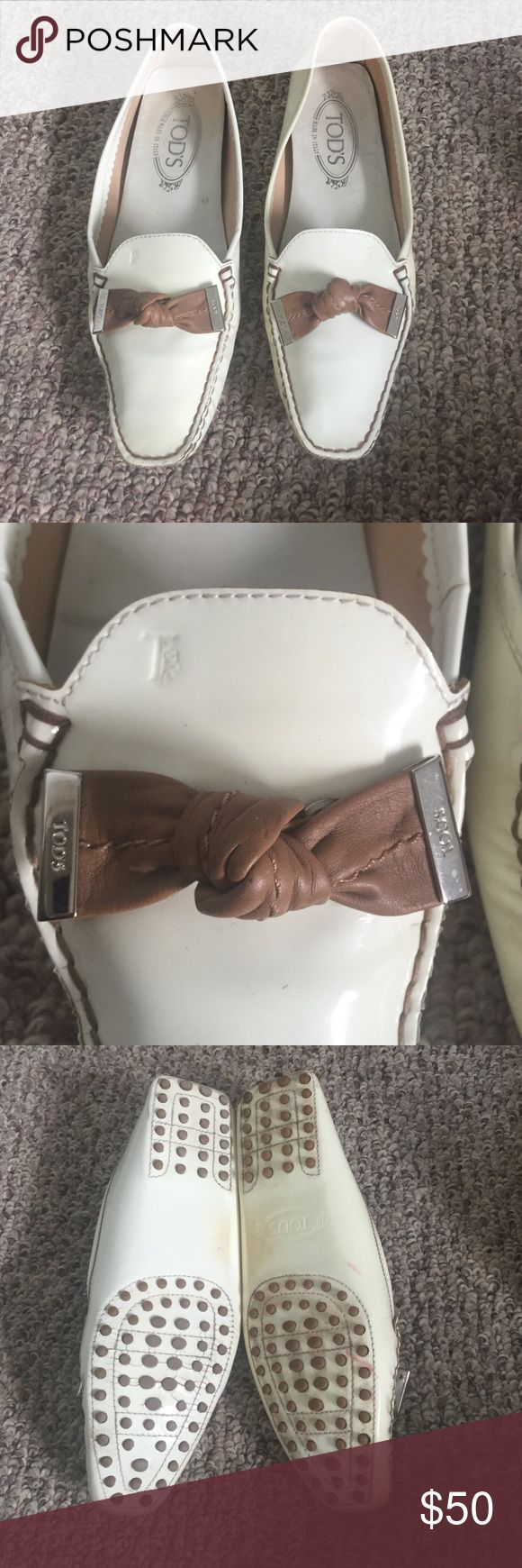 Tods Authentic tods driving loafers. In good used condition. Patent leather Tod's Shoes Flats & Loafers