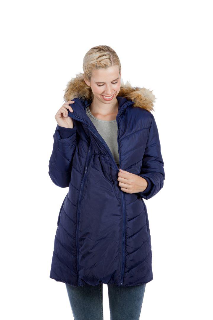 Modern Eternity LEXIE - 3-in-1 Fur Trimmed Hood Maternity Puffer Coat    #maternityclothes #maternitycoat #maternityjacket #maternity #ModernEternity
