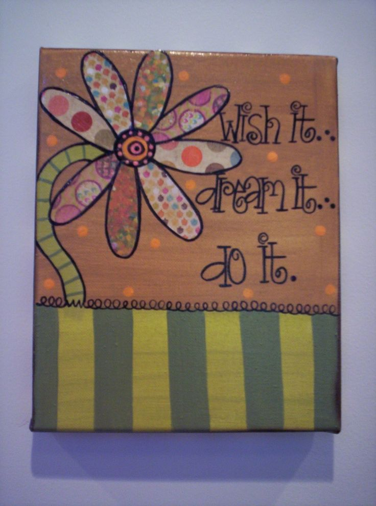 whimsical hand painted canvas | ... it...do it...wHIMsical Original Hand Painted Canvas Wall ART (8 X 10