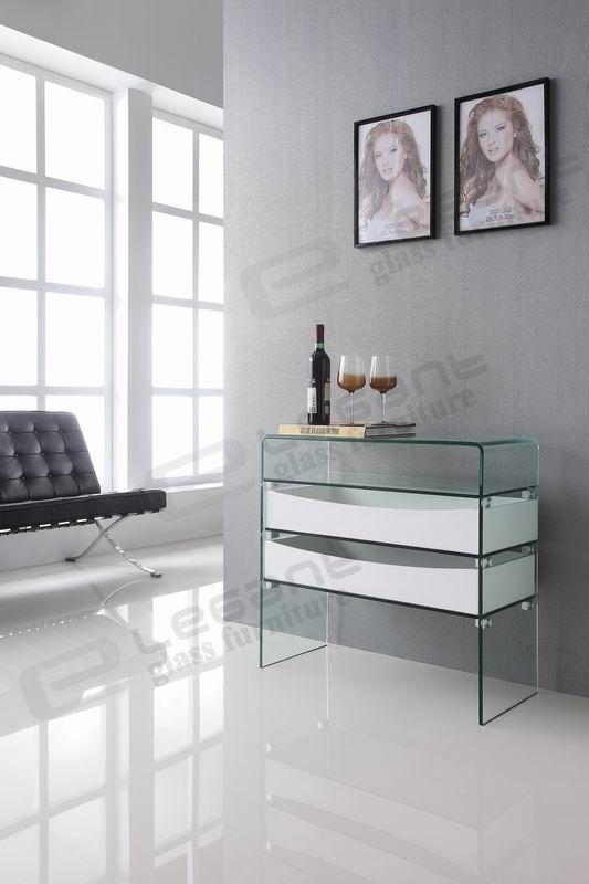 Znalezione obrazy dla zapytania bent glass tv stand white