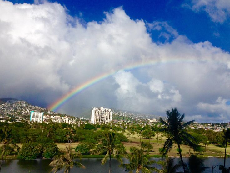 May Day is Lei Day in Hawaii … and rainbows!