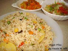 Veggie Pilau | Fauzias Kitchen Fun