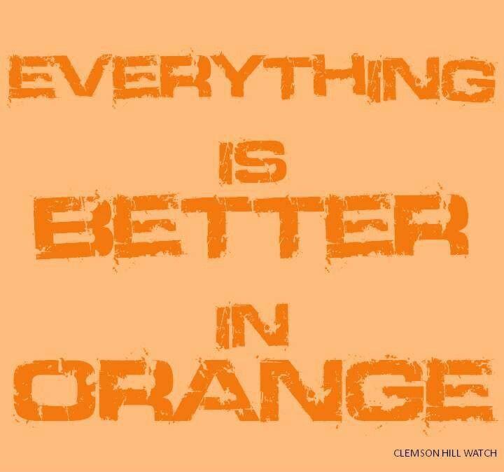 Orange makes everything better