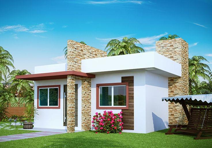 Fachadas de casas pequenas com varanda fotos e simple for Fachadas de piedra para casas pequenas