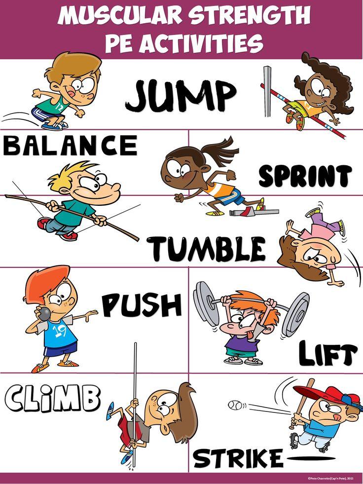 PE Poster: Muscular Strength PE Activities