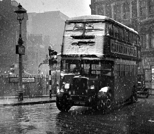 Wolfgang Suschitzky - View from 84 Charing Cross Road towards Cambridge Circus [bus] 1936