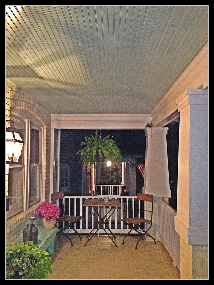 Front Porch Love The Ceiling Color La Maison Front