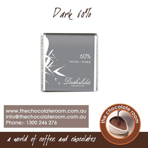 Dark 60% #Chocolate  For more updates, follow us @chocolateroomau