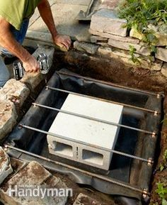 Pin now and read later. Backyard Waterfall - Step by Step: The Family Handyman