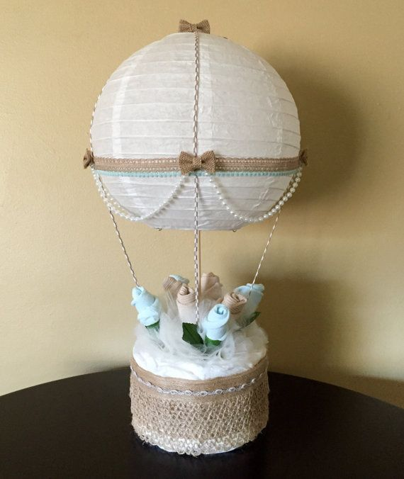 Hot Air Balloon Baby Shower Table Centerpiece di JustBabyBoutique
