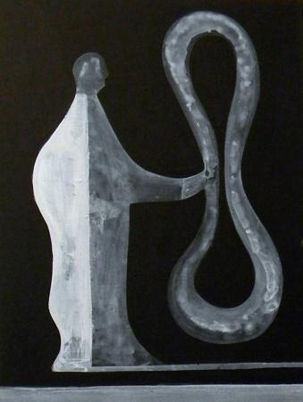 Space Head (Acrylic on board) 200mm x 150mm Peter McLeavey Gallery, Wellington, May-June 2012