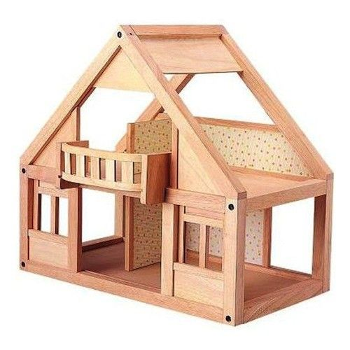 Wooden Doll House, My First Dollhouse, Plan Toys  Again fairly open framed for good access