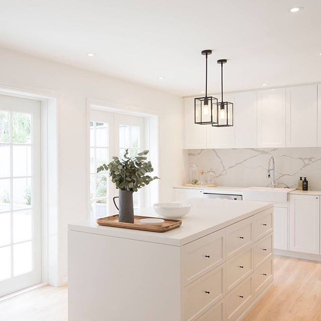 Beautiful Kitchen In Soft White. In 2019