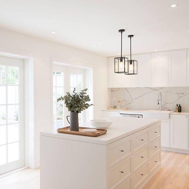 Beautiful kitchen in soft white  Home Kitchen Design