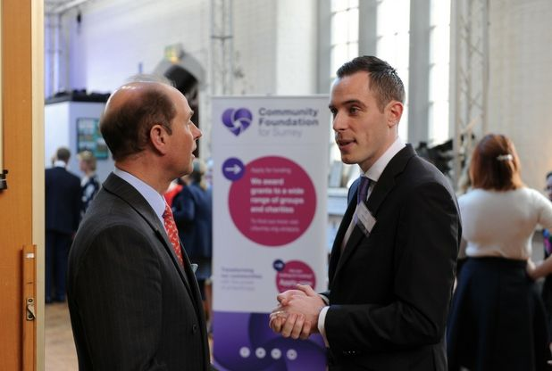 Prince Edward learns to whip up the perfect latte at visit to Leatherhead charity | Surrey Mirror