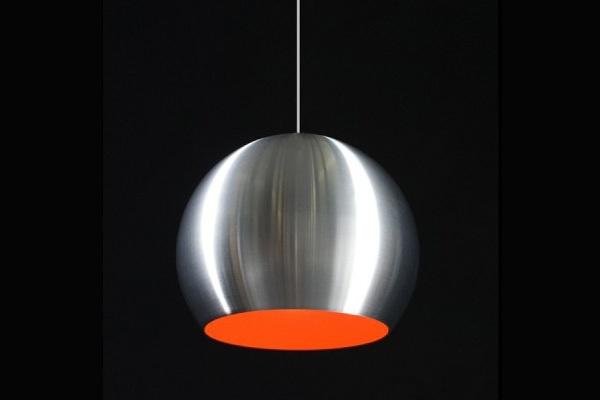 Kokoon Design Hang lamp Half Rond Aluminium / Rood