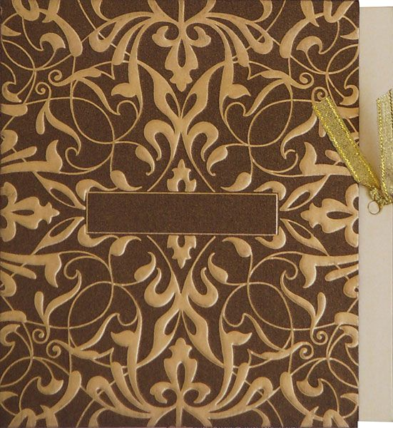 Exclusive Brown Gold Combination with customized initials option on it for bride-groom names.