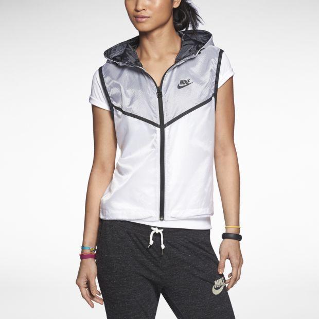 White and grey Nike Tech women's vest, sleeveless.