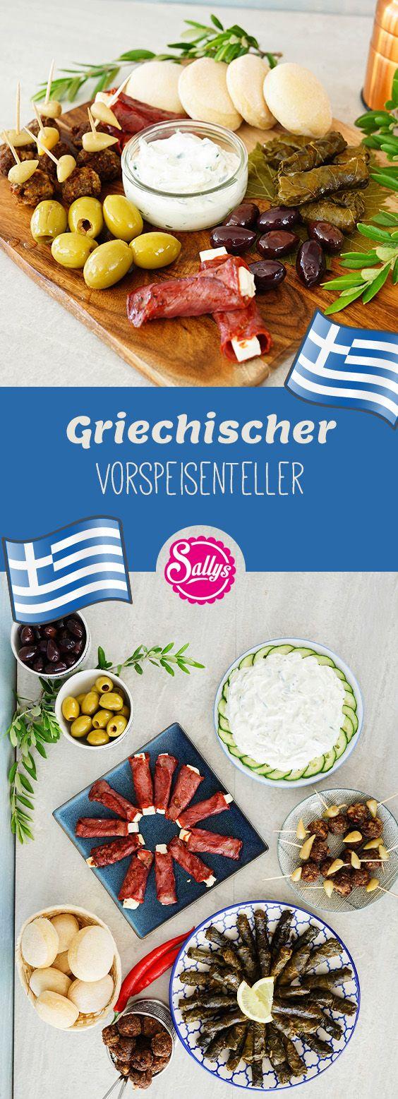 Griechischer Vorspeisenteller   Vorspeisenplatte, Vorspeise ...