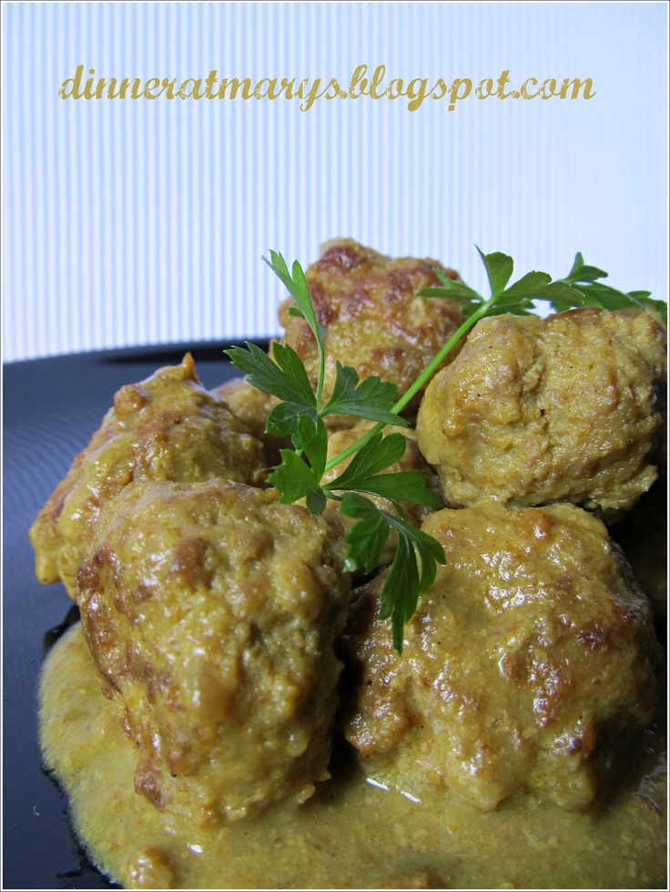 meatballs with curry