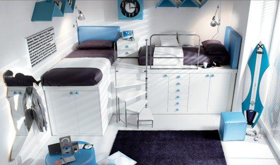 Gorgeous loft bedrooms that maximize space.