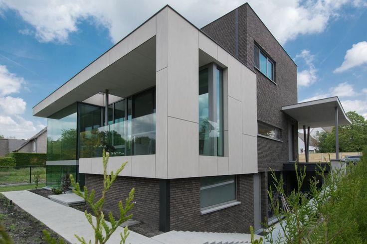 Moderne ben woning 3665 as architectenkantoor ontwerpburo archedea gevel pinterest - Moderne huis gevel ...