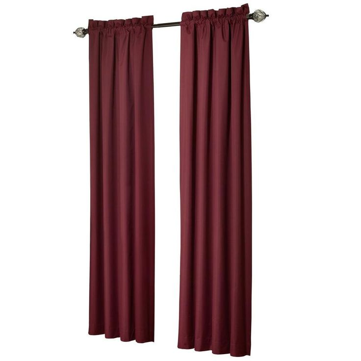 Sun Zero Brighton Burgundy (Red) Thermal Lined Curtain