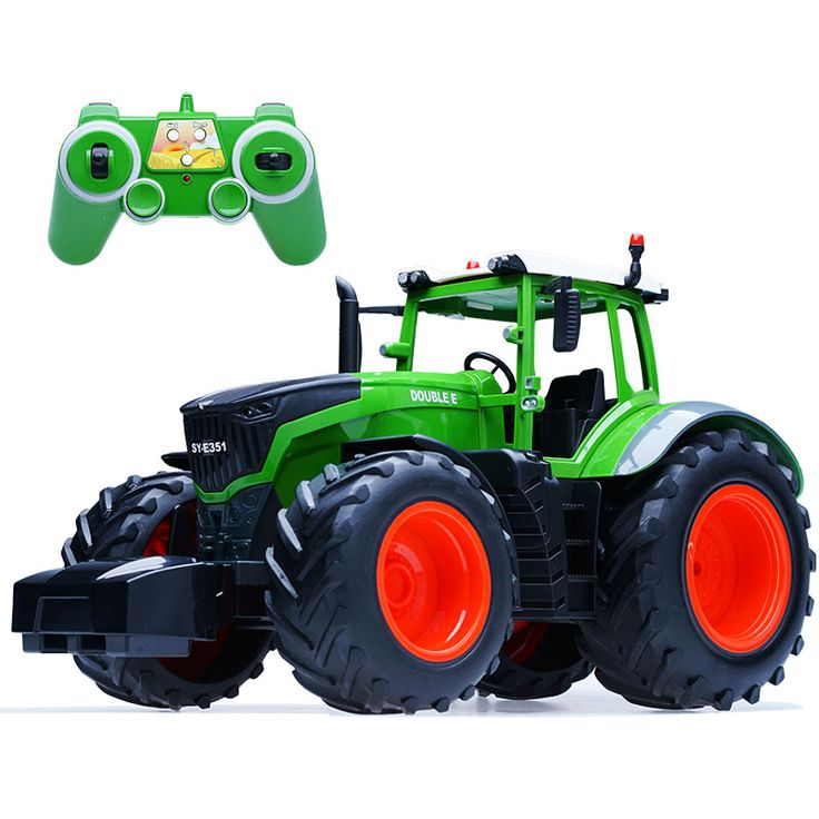 RC Tractor Full Control Trailer High simulation 4 rubber Wheel Farm Tractor Engineer Remote Control Tractor. Click visit to buy #RemoteControl #Car