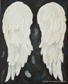 Angel Wings Art Painting Gratitude by MichelleLakeArt on Etsy