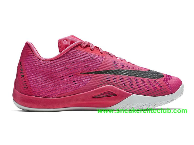Nike HyperLive EP Homme Pas Cher Rose Noir Blanc 820284_606-1603161959 - Chaussure  Nike BasketBall