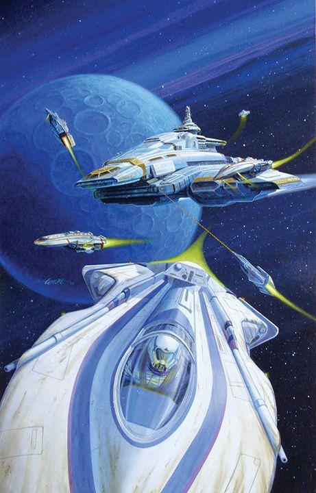 Star Frontiers, Space Battle www.LarryElmore.com | Fantasy Artist