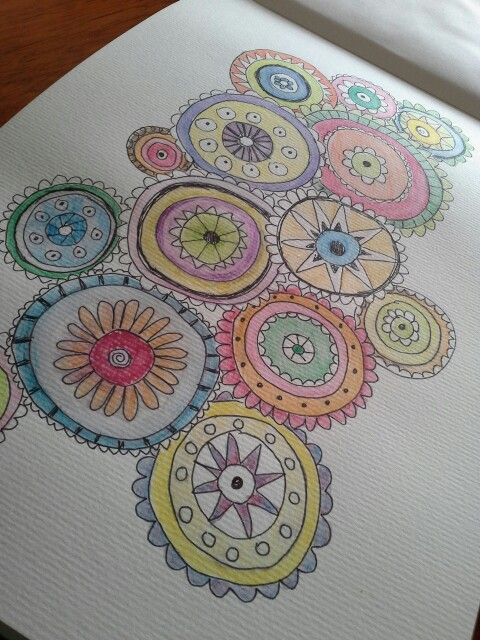 Doodling with watercolour pencils