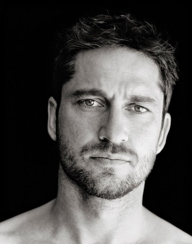 """Gerard Butler by  Richard Phibbs - """"Manscaping and all of that is not my thing. I'm more of the Clint Eastwood kind of guy."""""""
