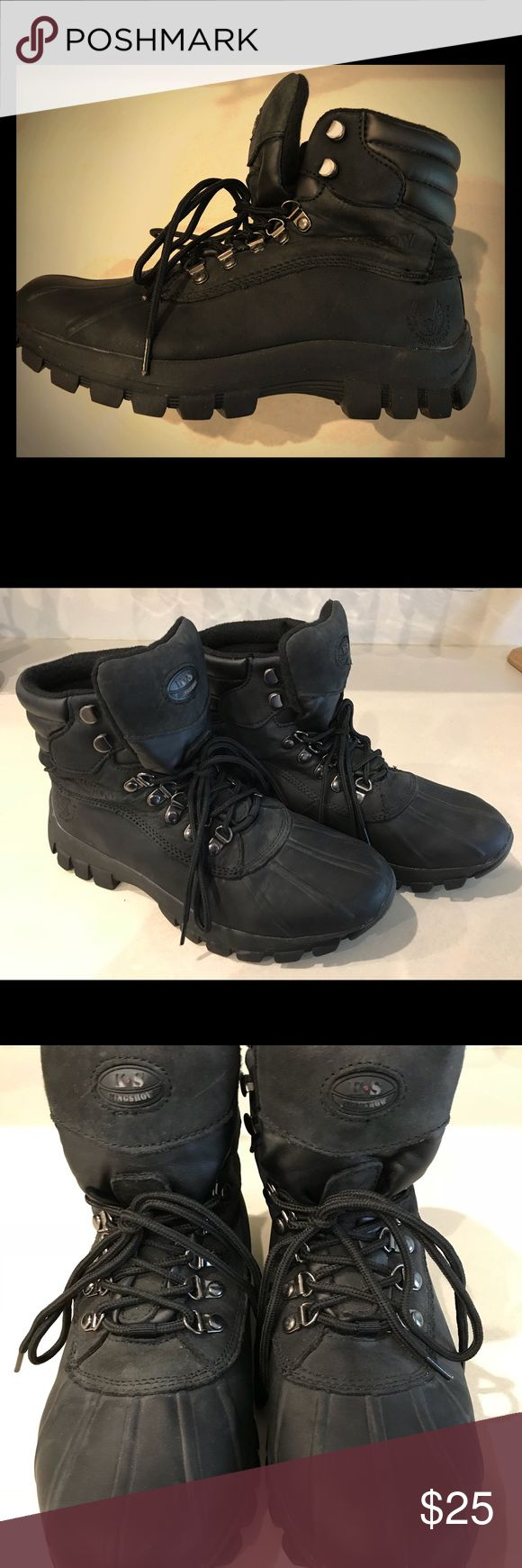 Rubber Sole Waterproof Snow Boots Water Proof Men's Winter Snow Boots. Size 8.5 US In perfect condition. Only worn once. KingShow Shoes Winter & Rain Boots