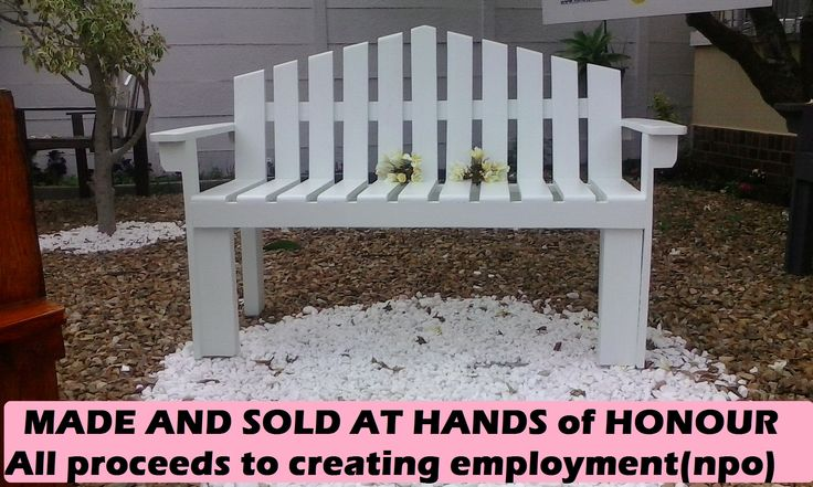Garden Benches sold to create employment and incomes for marginalized families/Shop - 8 Upper Southfield Road=.Plumstead (Off Main Road Plumstead )