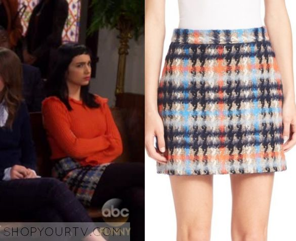 """Last Man Standing: Season 6 Episode 18 Mandy's Plaid Mini Skirt 