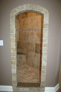 That's a wicked neat walk-in shower.