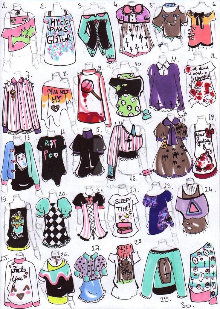 Yo! Grace here! Any drawing requests for my OCs in any of these outfits? Just comment the name and the number!