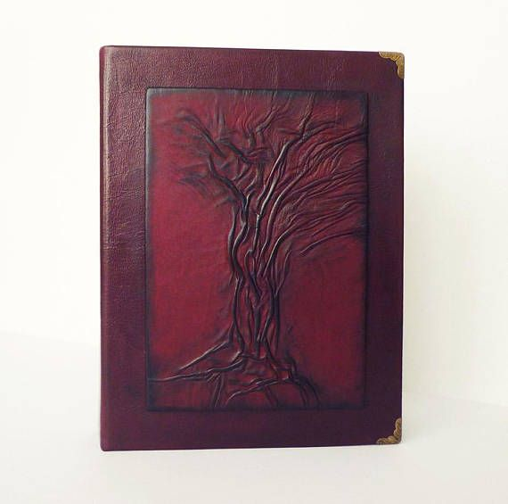 Leather Photo Album Tree of Life Christmas Gift for Family #leatheralbum  #photoalbum #leathergifts #ooak #christmasgift  #familygift  #giftformom  #giftfordad  #giftforwife  #giftforher  #giftforhim #burgundyalbum #treeoflife