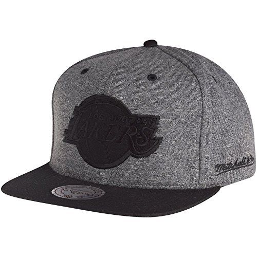 Mitchell & Ness Snapback Cap - HEATHER Los Angeles Lakers - http://weheartlakers.com/lakers-caps/mitchell-ness-snapback-cap-heather-los-angeles-lakers