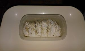 Ricotta sprinkled with herbs