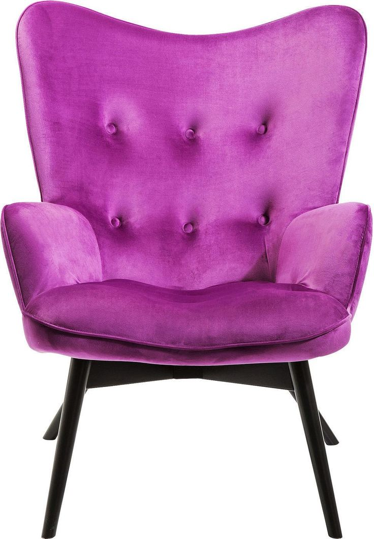 Fauteuil Vicky - Paars - Fluweel polyester - Beukenhout - Kare Design