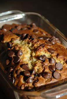 Chocolate chip Banana Bread - moist and delicious
